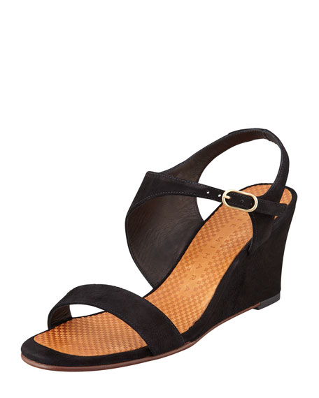 Anatour Mid-Wedge Sandal, Black