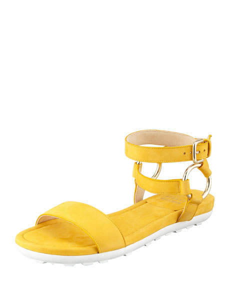 Ringo Ankle-Strap Flat Sandal, Sunny
