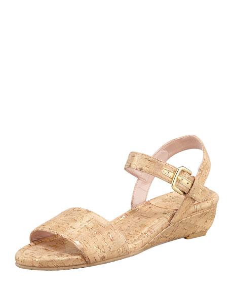 St. Barth Cork Micro-Wedge Sandal