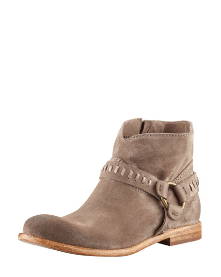 Sofia Suede Harness Boot, Sepia