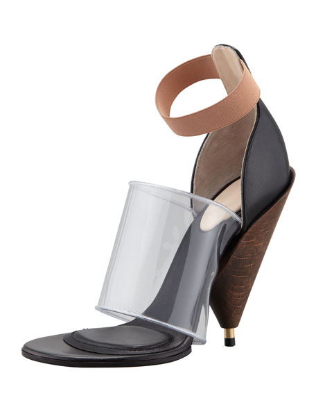 PVC Banded Cone-Heel Boot