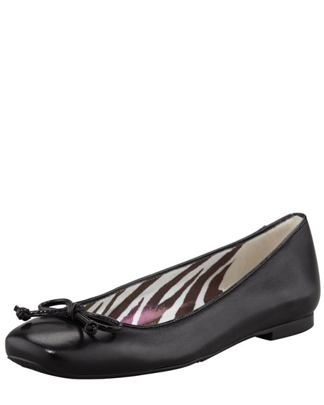 Stringon Napa Leather Ballerina Flat