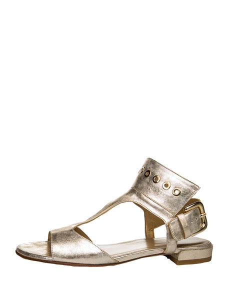 Cuffy T-Strap Grommet-Detail Sandal