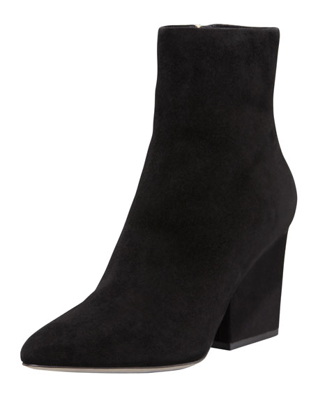 Sunniva Suede Pointed-Toe Bootie
