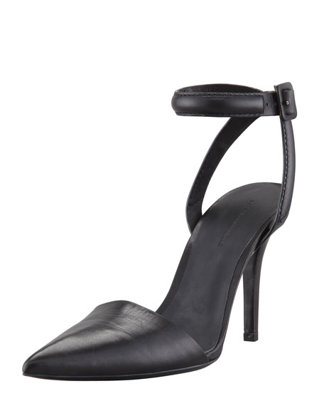 Lovisa Leather Ankle-Wrap Pump