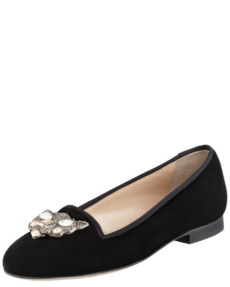 Blairclo Crystal Cat-Face Loafer