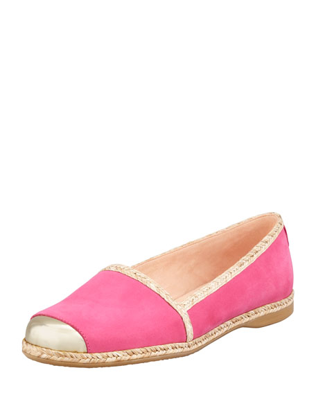 Tipadrille Mirror-Tipped Espadrille Flat, Bubble Gum