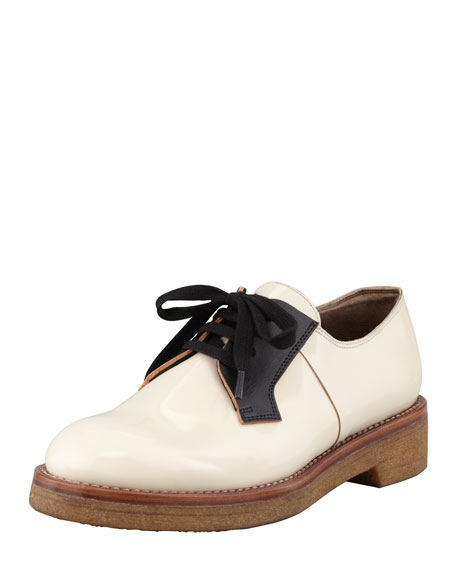 Patent Leather Oxford, Black/Nude