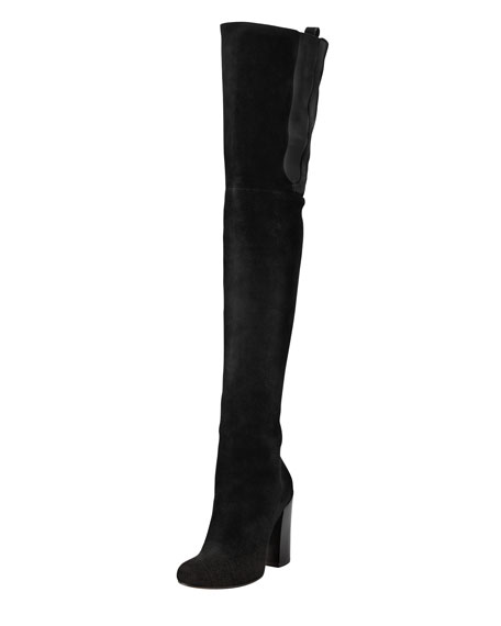GivenchySuede knee-high boots urMNMH