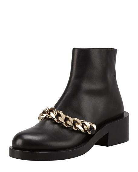 Chain-Strap Chelsea Calfskin Boot