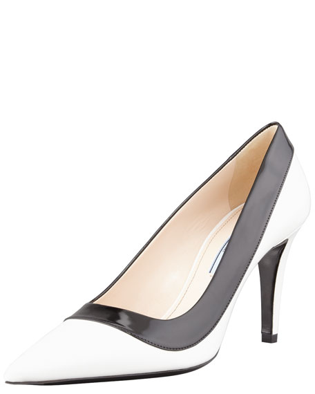 Two-Tone Pointed-Toe Pump