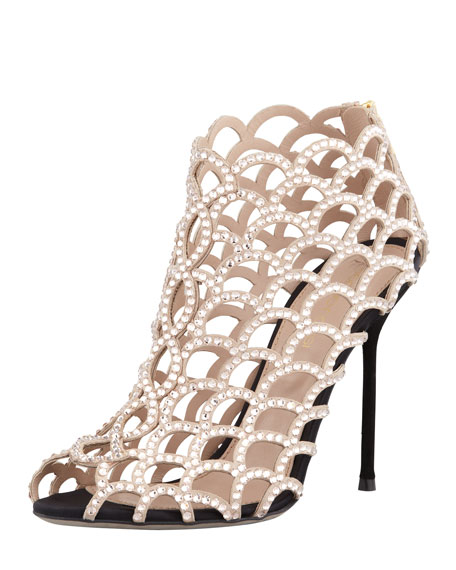 Caged Crystal Bootie