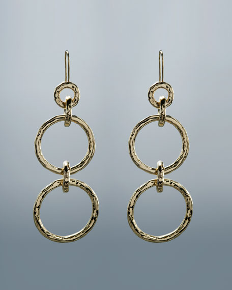 Glamazon Hammered Link Earrings