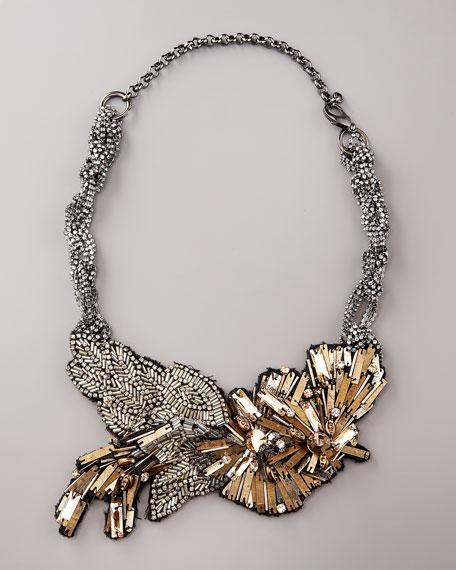 Vivian Crystal Bib  Necklace