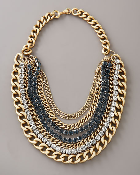 Multi-Chain Crystal Necklace