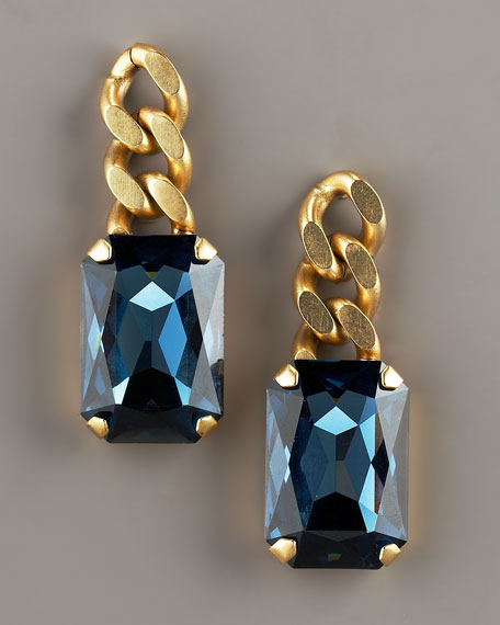 Chain Square-Drop Earrings