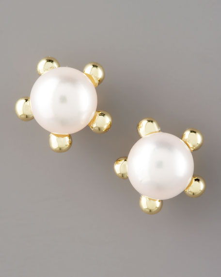 Five-Point Pearl Earrings