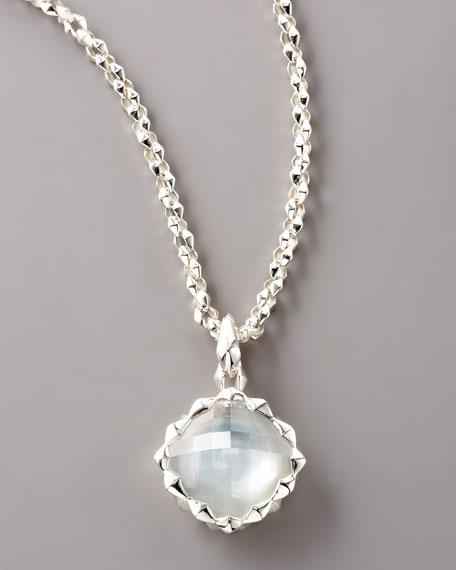 Super Stud Square Pendant Necklace, Medium