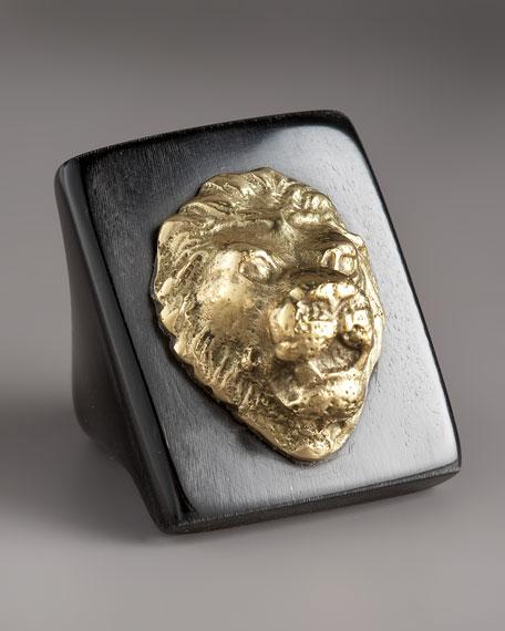 Lion Horn Ring