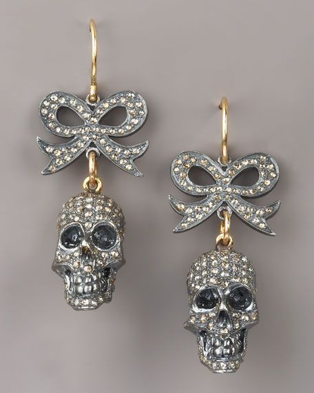 Bow & Skull Earrings