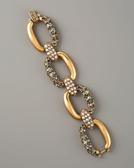 Woven Pave-Strap Bracelet