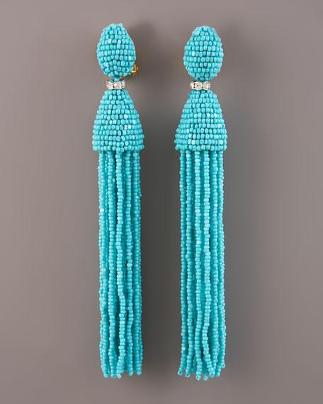 Oscar De La Renta Tassel Earrings