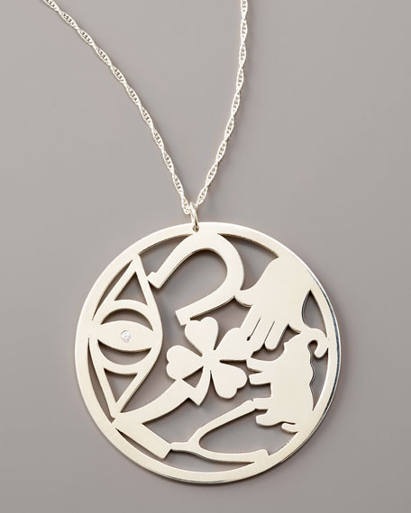 Good Luck Circle Pendant Necklace