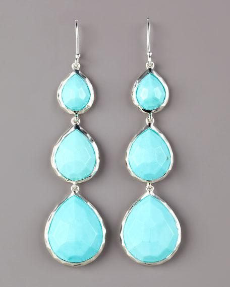 Turquoise Triple Teardrop Earrings