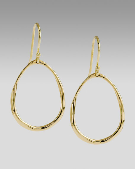 Mini Squiggle Oval Earrings