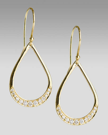 Pave Mini Teardrop Earrings