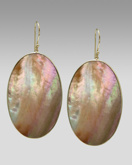 Oval Shell Earrings
