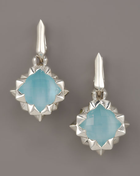 Blue Crystal Haze Earrings