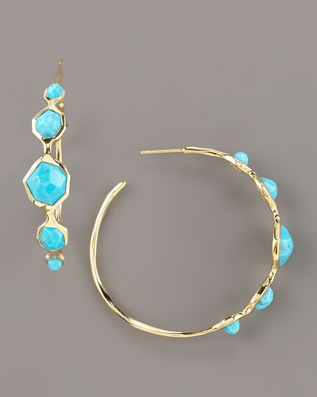 Hoop Earrings, Turquoise