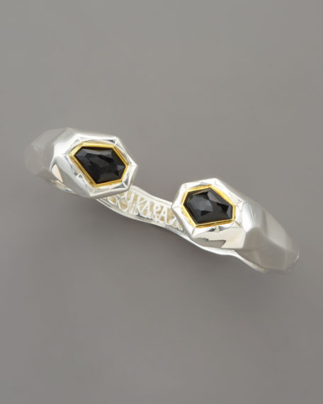 Faceted Black Onyx Kick Cuff