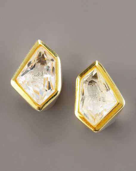 Tiny Rock Crystal Stud Earrings