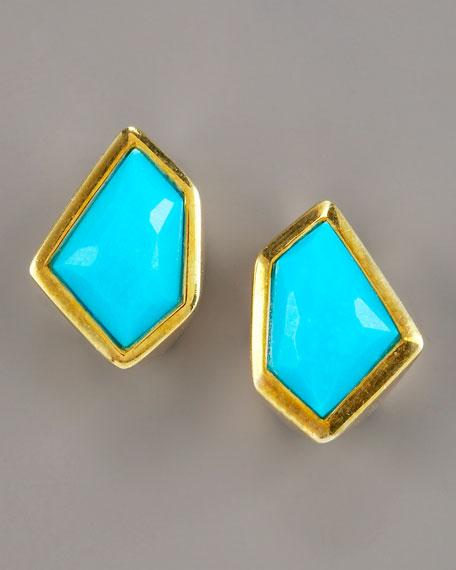 Tiny Turquoise Stud Earrings