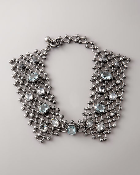Beaded-Chain Collar Necklace