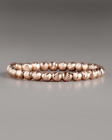 Olivia Bead Ring, Rose Gold