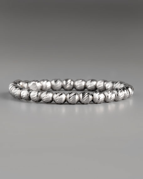 Olivia Bead Ring, White Gold