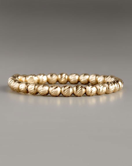 Olivia Bead Ring, Yellow Gold