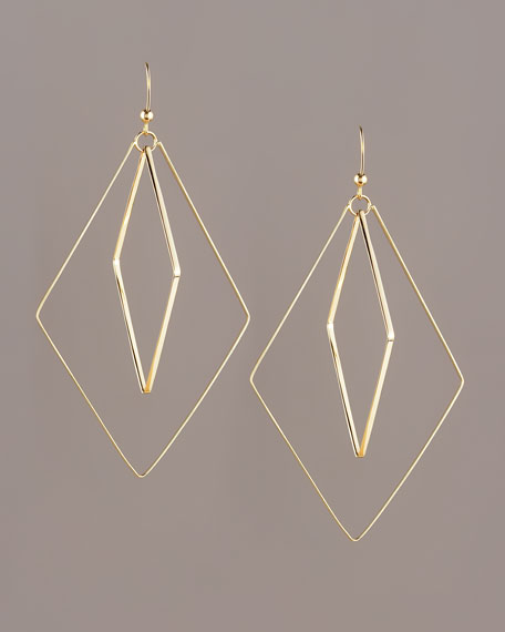 Flat Double-Diamond Earrings