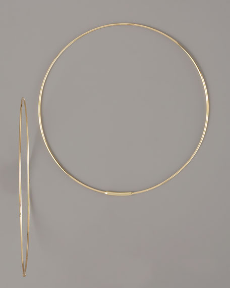 Large Magic Hoops, Yellow Gold