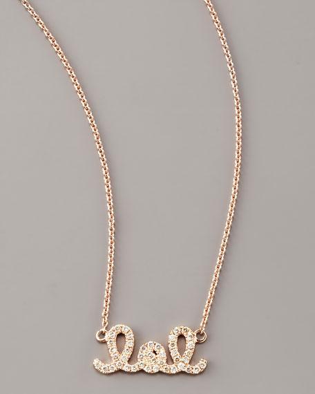 Diamond LOL Necklace