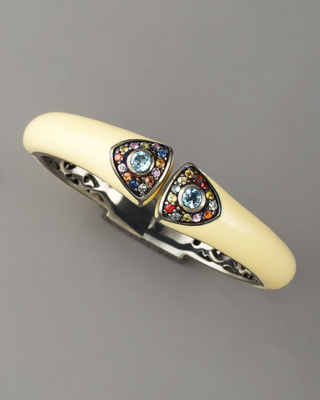 Art Deco Enamel Bangle, Red