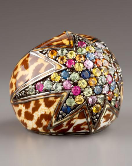 Starstruck Leopard & Sapphire Ring