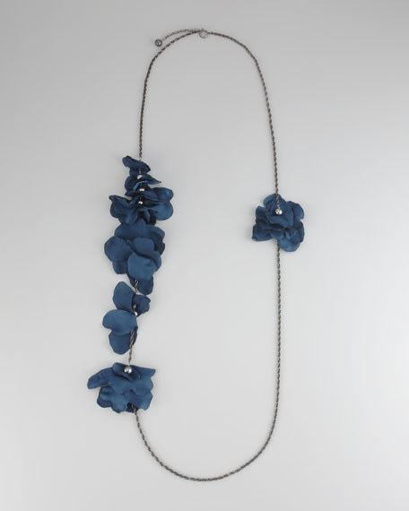 "Long Petal Necklace, 60""L"
