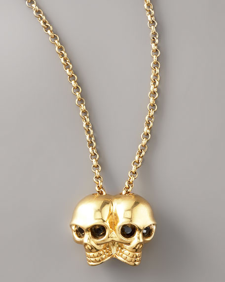 Conjoined Skull Pendant Necklace