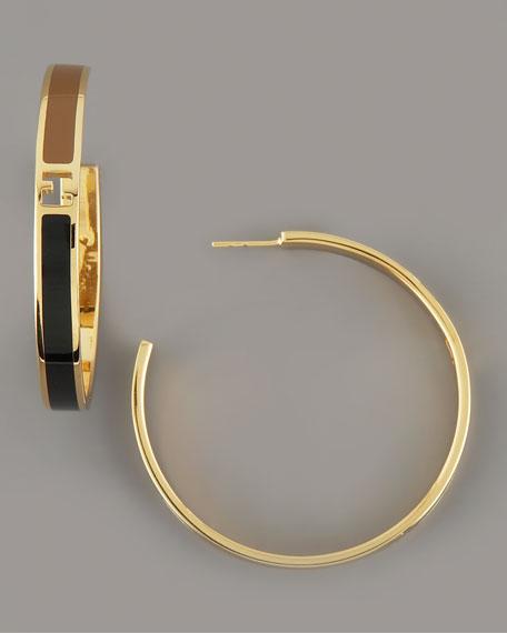 Two-Tone Logo Earrings