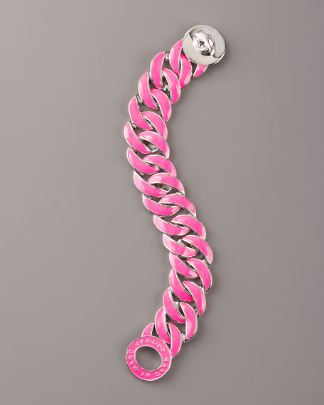 Enamel-Coated Katie Turnlock Bracelet, Pink