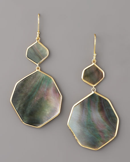 Irregular-Drop Shell Earrings
